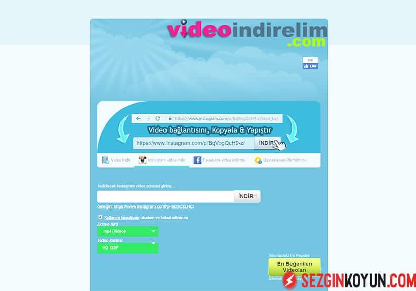 Videoindirelim sitesi QR kod ile sizlere kolaylık sağlamaktadır.