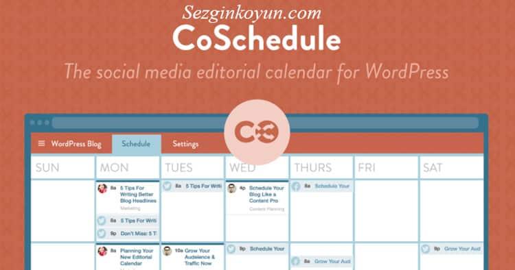 Sosyal Medya Araçları - CoSchedule