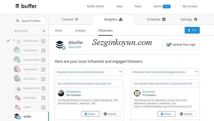 Sosyal Medya Araçları - Buffer