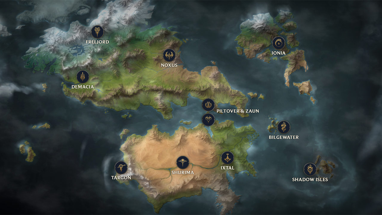 Runeterra Haritası