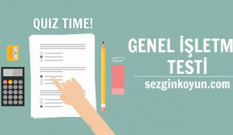 Aöf Genel İşletme Test Sınav Soruları