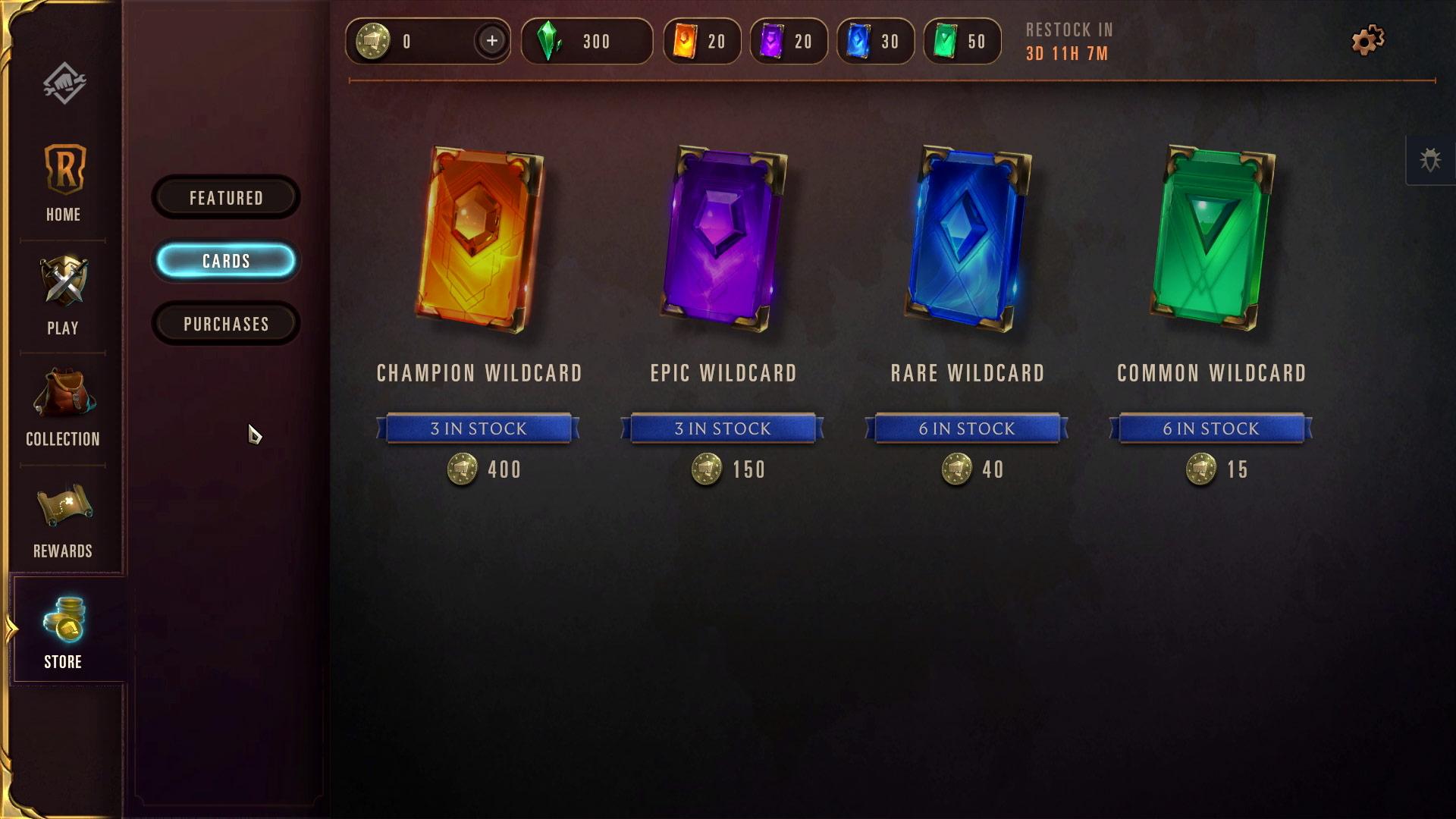 Legends of Runeterra Kart Sınırlaması