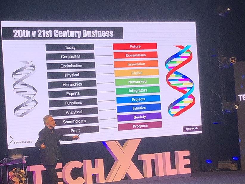 Peter Fisk Tech X Tile'da konuşma yaparken